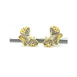 18K Yellow Gold Sapphire 1.20ctw Diamond Earrings