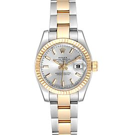 Rolex Datejust 26 Steel Yellow Gold Silver Dial Ladies Watch 179173