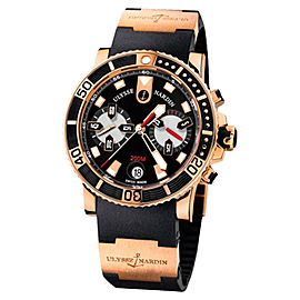 Ulysse Nardin Maxi Marine Diver Chronograph 18k Rose Gold Men's Watch