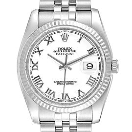Rolex Datejust Steel White Gold Jubilee Bracelet Watch 116234