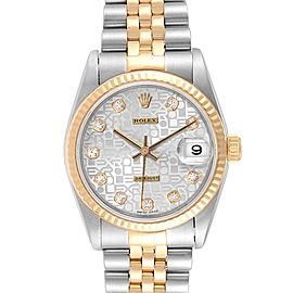 Rolex Datejust Midsize Steel Yellow Gold Diamond Ladies Watch 78273