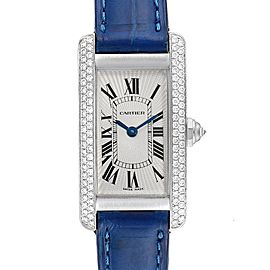 Cartier Tank Americaine White Gold Diamond Ladies Watch WB701851
