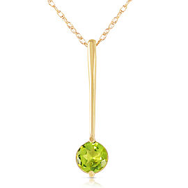 0.65 CTW 14K Solid Gold Piazza Peridot Necklace