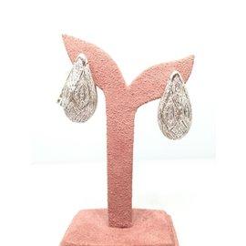 18K White Gold 1.76ctw Diamond Earrings