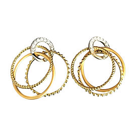 Carrera y Carrera 18K Yellow & White Gold Diamond Earrings