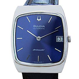 Bulova Automatic Swiss Dress Mens 1980s Watch