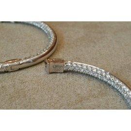 Odelia 18K White Gold 5.07ctw Diamond Hoop Earrings