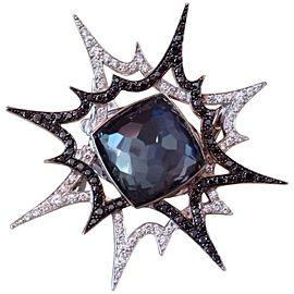 """Stephen Webster 18K White Gold & Diamond """"Murder She Wrote Bang Ring Size 5"""