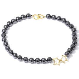 Tiffany & Co. 18K Yellow Gold Hematite Necklace