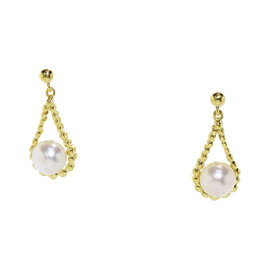 Mikimoto 18K Yellow Gold Akoya Pearl Earrings