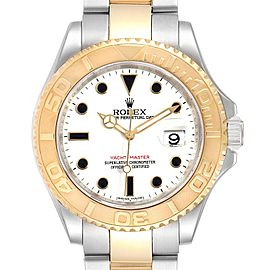 Rolex Yachtmaster 40 Steel Yellow Gold White Dial Mens Watch 16623