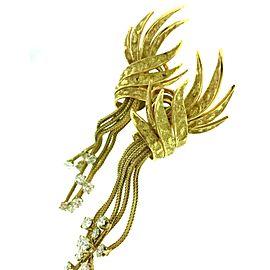 18K Yellow Gold 2.25ctw Diamond Tassel Earrings