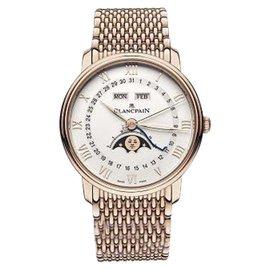 Blancpain Villeret 18K Rose Gold Complete Calendar Moonphase 40mm Mens Watch