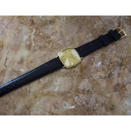 Piaget 18K Yellow Gold & Leather 29mm x 32mm x 5mm Watch