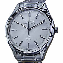 Citizen Crystate Deluxe Stainless Steel Manual 37mm Mens Watch 1960s