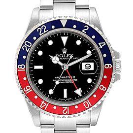 Rolex GMT Master II 3 Coke Pepsi Black Bezel Inserts Mens Watch 16710