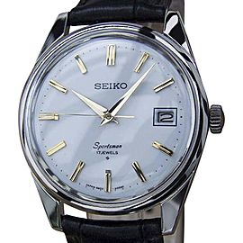 Seiko Sportsman Stainless Steel Manual Vintage 36mm Mens Watch Year 1960