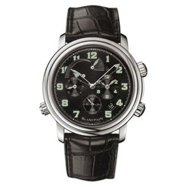 Blancpain Leman 2041-1130-53B Stainless Steel & Leather Automatic 40mm Mens Watch