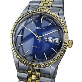 Bulova Gold Plated Stainless Steel Vintage 35mm Mens Watch