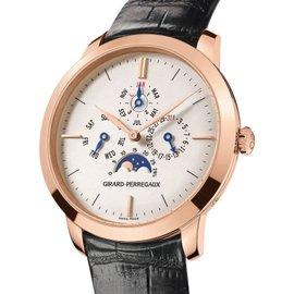 Girard Perregaux 90535-52-131-BK6A 18K Rose Gold Vintage 1966 Perpetual Calendar Moonphase 40mm Watch