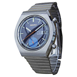 Seiko 6139 9020 Stainless Steel Vintage 36mm Mens Watch