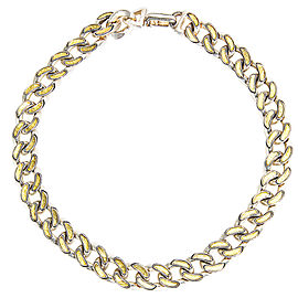 Gurhan 925 Sterling Silver & 24K Yellow Gold Ottoman Link Necklace