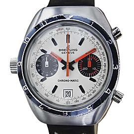 Breitling Chronomatic Stainless Steel Swiss Made Automatic Chronograph 39mm Mens Watch 1969