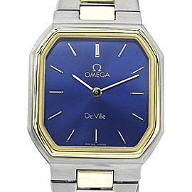 Omega Deville Gold Plated and Stainless Steel Vintage 25mm Womens Watch
