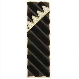 Mikimoto 18K Yellow Gold Wood Diamond 0.39ct Pendant