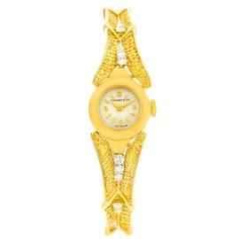 Tiffany & Co. 4803 14K Yellow Gold 15mm Womens Watch