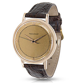 Jaeger-LeCoultre 18K Rose Gold Vintage 35mm Mens Watch