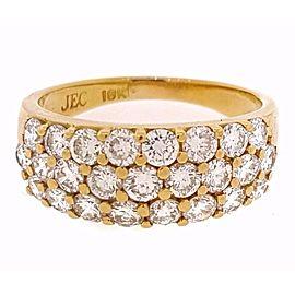 18K Yellow Gold 1.25ctw Diamond Ring Size 6.5