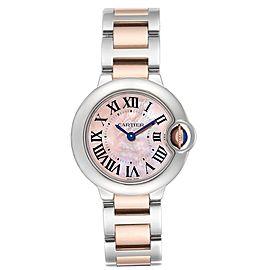 Cartier Ballon Bleu Rose Gold Steel Mother of Pearl Ladies Watch W6920034