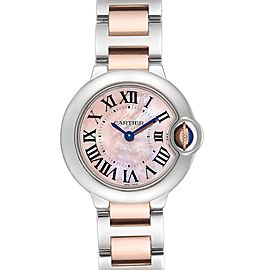 Cartier Ballon Bleu Rose Gold Steel Mother of Pearl Ladies Watch W6920034