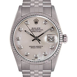 Rolex Datejust Stainless Steel / 18K White Gold 36mm Mens Watch