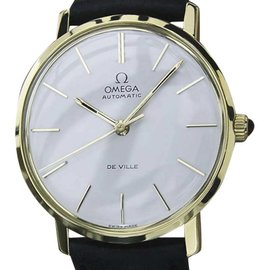 Omega DeVille 18K Gold Automatic 32mm Mens Watch 1960s