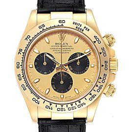 Rolex Daytona Yellow Gold Paul Newman Dial Mens Watch 116518