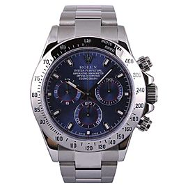 Rolex Daytona 116520 Stainless Steel Navy Dial Automatic 40mm Mens Watch