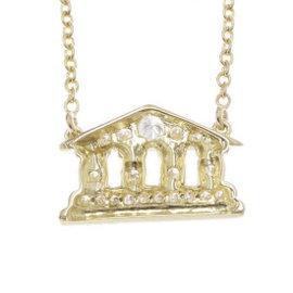 Christian Dior 18K Yellow Gold & Diamond Necklace