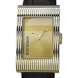 Boucheron Reflet 18K Yellow Gold Quartz 21mm Womens Watch