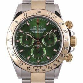 Rolex Daytona 116523 18K Yellow Gold & Stainless Steel 40mm Mens Watch