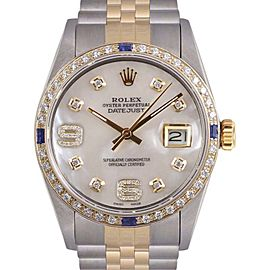Rolex Datejust Stainless Steel & 18K Yellow Gold 36mm Mens Watch
