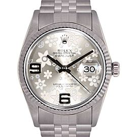 Rolex Datejust Stainless Steel / 18K White Gold Silver Dial Automatic 36mm Mens Watch
