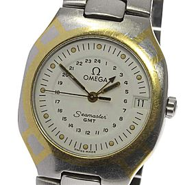 Omega Seamaster Polaris GMT Stainless Steel / Gold Plated Quartz 31mm Mens Wrist Watch
