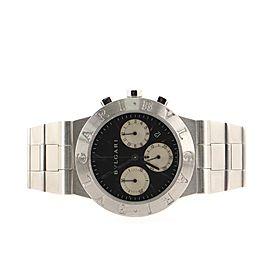 Bvlgari Diagono Chronograph Quartz Watch Stainless Steel 35
