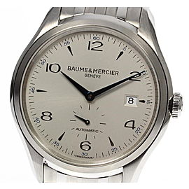 Baume & Mercier Clifton MOA10099 Stainless Steel with Silver Dial Automatic 40mm Mens Watch