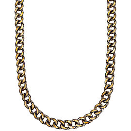 Gurhan 925 Sterling Silver & 24K Yellow Gold Chain Link Necklace
