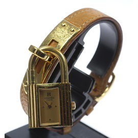 Hermes Kelly Gold Plated/Stainless Steel Leather Belt Quartz 20mm Womens Watch