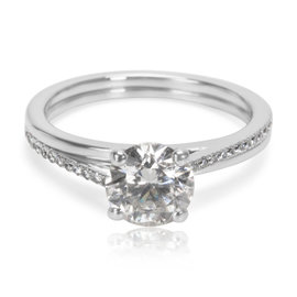 DeBeers Platinum with 1.37ct. Diamond Engagement Ring Size 7