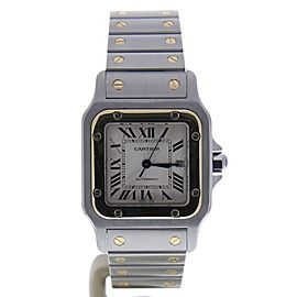 Cartier Santos 2319 Stainless Steel & 18K Yellow Gold Automatic 29mm Womens Watch